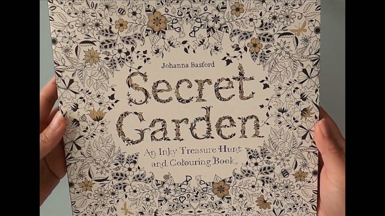Coloring Book Secret Garden : Secret garden adult colouring book youtube