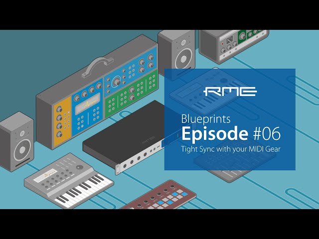 Tight MIDI Sync with the E-RM Multiclock and RME Audio Interfaces   Blueprints Episode #06