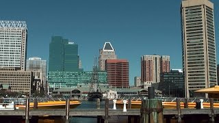 USA - state of Maryland city of Baltimore - downtown and inner harbor