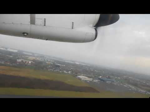 Flybe Stobart Air ATR 72-600 Isle Of Man to Liverpool Full Flight