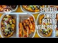Bodybuilding Meal Prep Stuffed Sweet Potatoes / Batatas Rellenas con Verduras