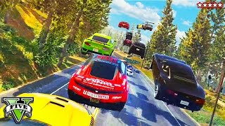 GTA 5 Online Fun w/ROCKSTAR GAMES!! Epic 30 Car Obstacle Course Race!! GTA 5 Funny Moments
