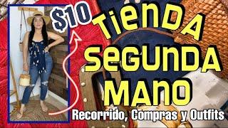 OUTFITS CON $10 en TIENDA DE SEGUNDA MANO😰🤔 Collab con Zulma I. | Shary's Glow