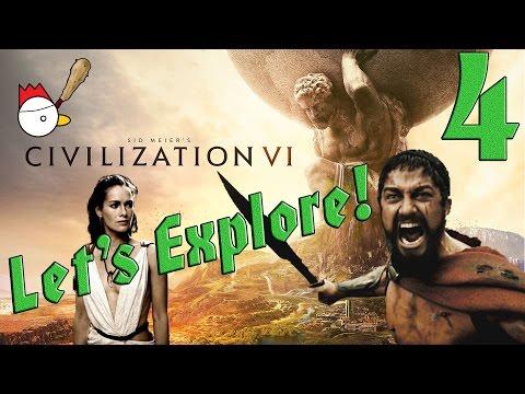 CIVILIZATION VI [ITA] Let's Explore 4# - QUESTA È SPARTAAAAA!