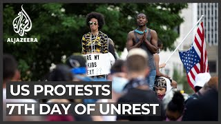 George Floyd: Protests, arrests continue in US for seventh day