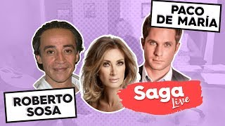 #SagaLive el cantante Paco de María, el actor Roberto Sosa y mesa de encuestadores con Adela Micha