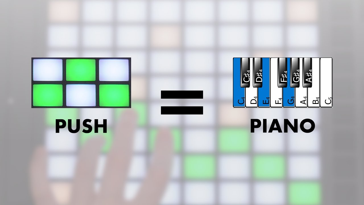 See piano notes on Ableton Push 2 with this app!