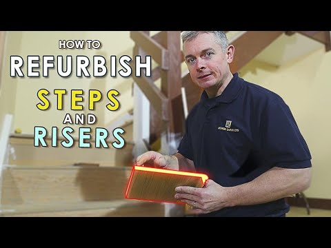 Staircase renovation – part 3: how to refurbish steps and ri