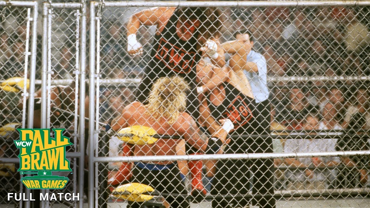 Download FULL MATCH - Team WCW vs. nWo Hollywood vs. nWo Wolfpac - WarGames Match: WCW Fall Brawl 1998