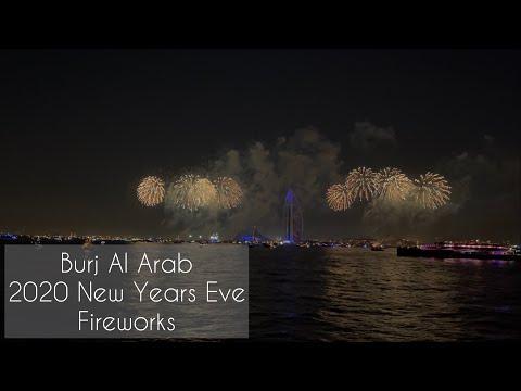 2020 Burj Al Arab New Years Eve Fireworks – Mega Dhow cruise from Dubai Marina