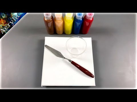 Amazing Pour Painting using Metallic Acrylic Colors