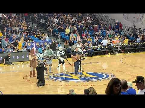 video:Santa Cruz Warriors Halftime Show Featuring Singer-Songwriter Tim Bennett.  Dec. 13th, 2019.