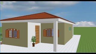 simples casa bonita planta