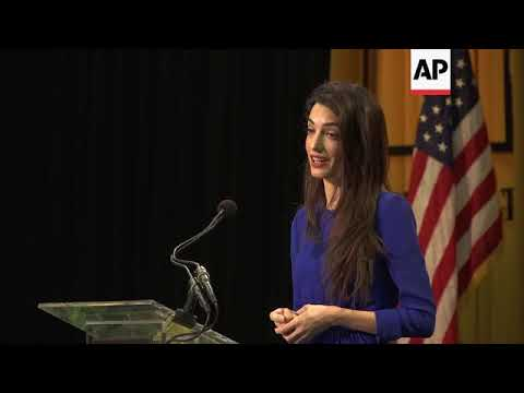 Amal Clooney tells grads to be courageous