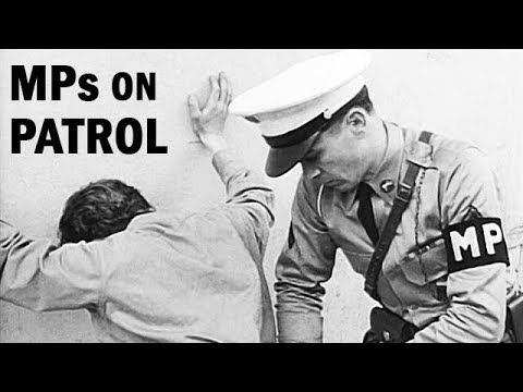 Military Police On Town Patrol   US Army Documentary   1955