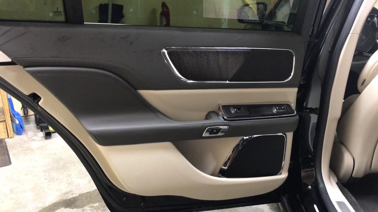 2017 Lincoln Continental Remove Driver Rear Door Panel