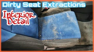 DIRTY SEAT EXTRACTION DETAIL 〡NORMAL SPEED HOT WATER EXTRACTION 〡RELAXING