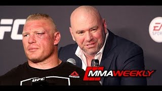 Dana White on Brock Lesnar Returning and Steroid Testing (UFC 226 Post)