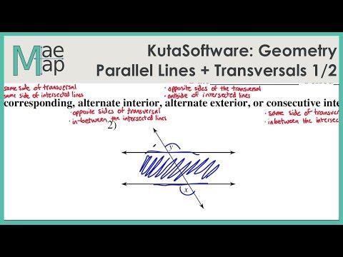 KutaSoftware: Geometry- Parallel Lines And Transversals Part 1