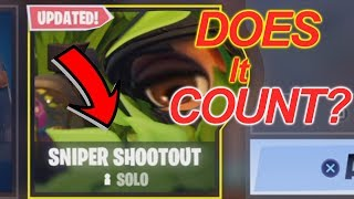 DOES IT COUNT?!?! DOES THE SNIPER SHOOTOUT SOLO MODE COUNT AS A WIN!?!?! FORNITE UPDATE!