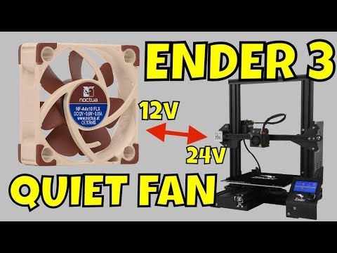 Quiet 12V NOCTUA Fan On 24V ENDER 3