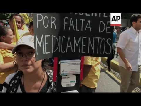 Venezuela opposition protest lack of medicine