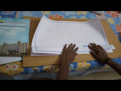 How fold a engineering drawing sheet