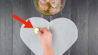 Выкладываем овощи на сердечко из бумаги. Через 15 минут получаем вкуснейший результат!