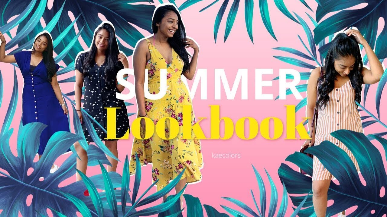 SUMMER DRESS | FASHION LOOKBOOK 2019 |  outfit ideas |  Kaecolors