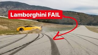 I CRASHED MY BEST FRIENDS  LAMBORGHINI AT THE TRACK!?!?