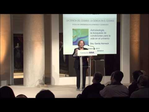 Lecture by Gerda Horneck from the  Institute of Aerospace Medicine, Germany
