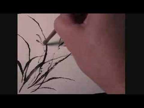 Chinese Painting Tutorial – Orchid on hemp paper