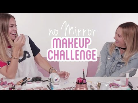 NO MIRROR Make-Up Challenge with ASHLEY TISDALE  BELLA