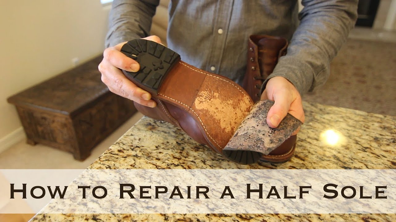 How To Repair A Half Sole Youtube