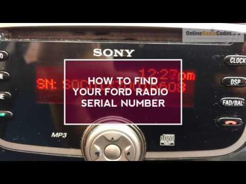 FORD RADIO SERIAL NUMBER DISPLAYED TO UNLOCK FORD RADIO CODE