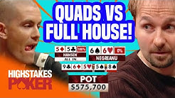 Gus Hansen Hits Quads Against Daniel Negreanu | High Stakes Poker