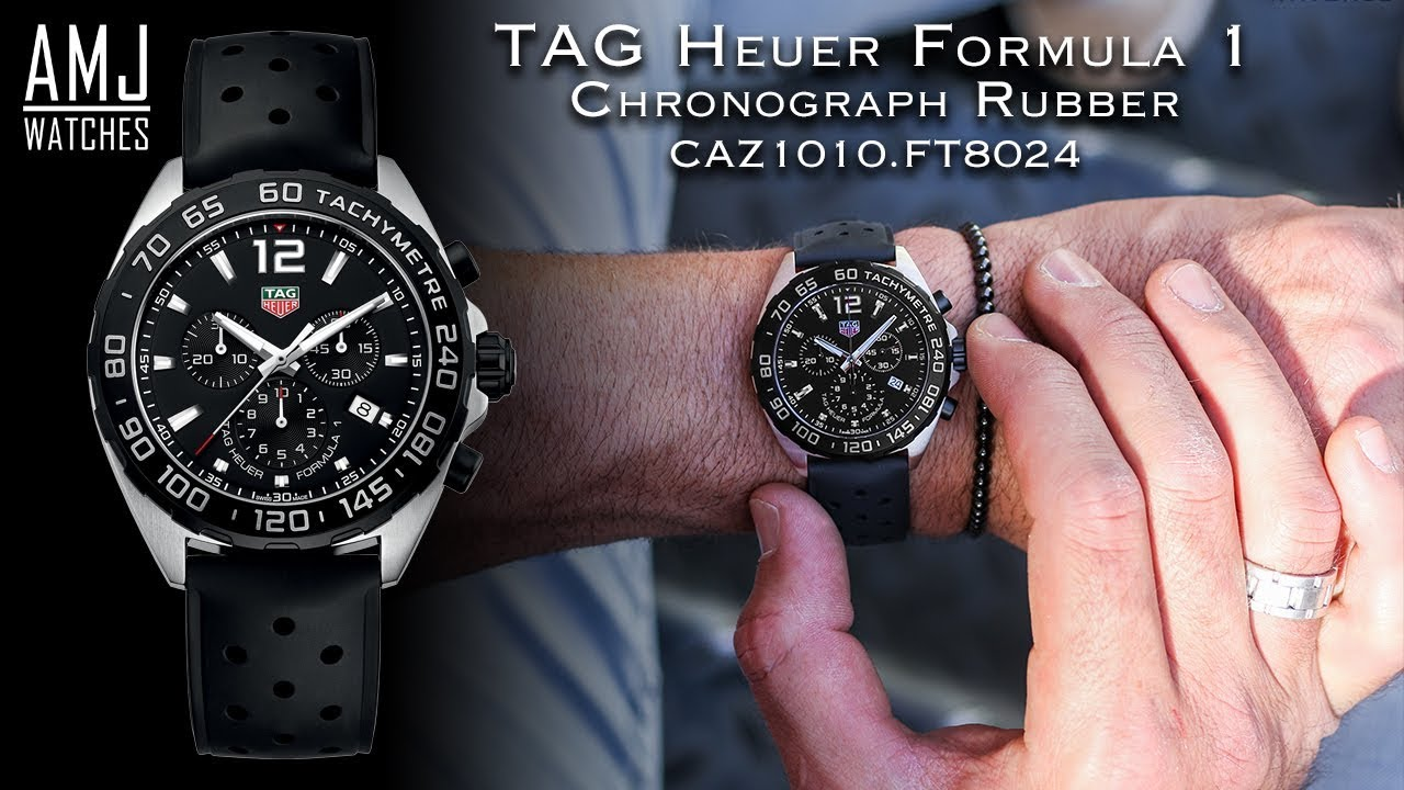 tag heuer formula 1 chronograph rubber caz1010 ft8024. Black Bedroom Furniture Sets. Home Design Ideas