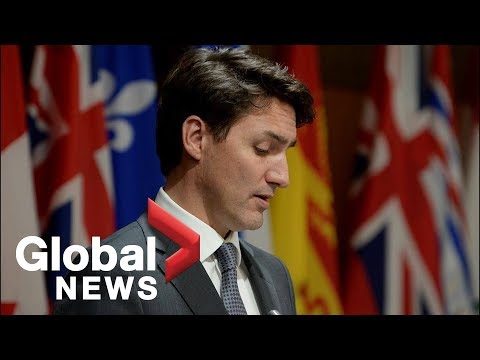 Trudeau disrupted by hecklers at Toronto funding announcement