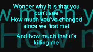 Hoobastank - I dont think I love you (lyrics on screen)