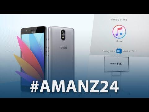 #Amanz24 - iTunes Microsoft Store, Samsung Flip, Spectacles 2