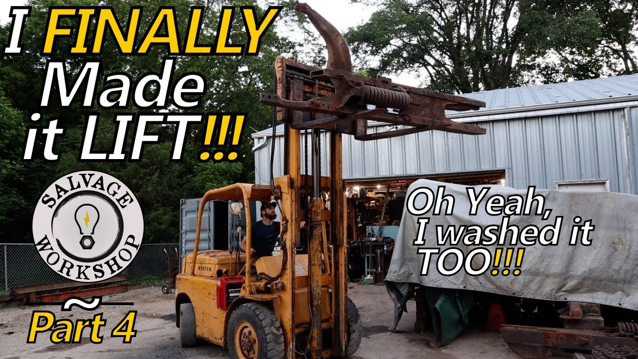 Repairing the Old SHYSTER's Hydraulic Cylinders ~ RESCUING a 60's Abused Fork Truck ~ Part 4