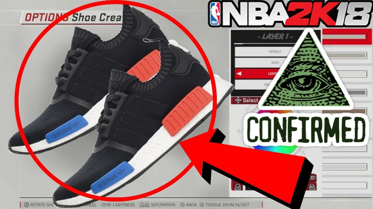 How to Get Black Adidas NMD's in NBA 2k18!!!