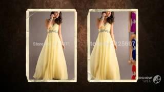 2015 В шеи платье выпускного вечера ногтей бусины коктейльное платье невесты платья шифон