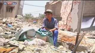 فتى فلسطيني يجسد معاناة غزة بلوحات