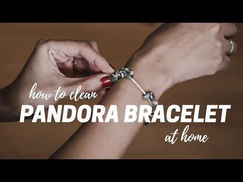 How to Clean a Pandora Charm Bracelet at Home // Before & After
