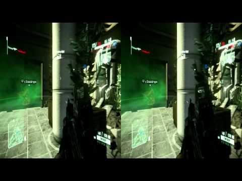 Stereoscopic Full HD 3D Crysis 2 Game.