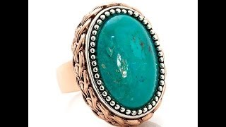 Studio Barse Oval Turquoise 2Tone Copper Ring