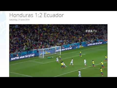 Honduras 1-2 Ecuador All Goals & Highlights HD ( FIFA World Cup Brasil 2014)