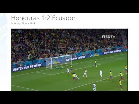 Honduras 1-2 Ecuador All Goals & Highlights HD ( FIFA World Cup Brasil 2014)