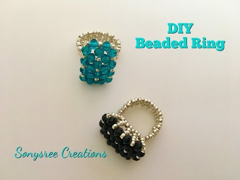 Charming Ring 💍  Beaded Ring Tutorial Super Easy ❤️